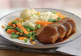 """Comida en Nueva Zelanda: cena """"meatloaf"""""""