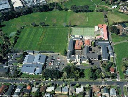 Vista aérea colegio en Nueva Zelanda Auckland
