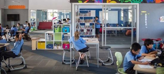 Interior aula colegio en Nueva Zelanda Auckland