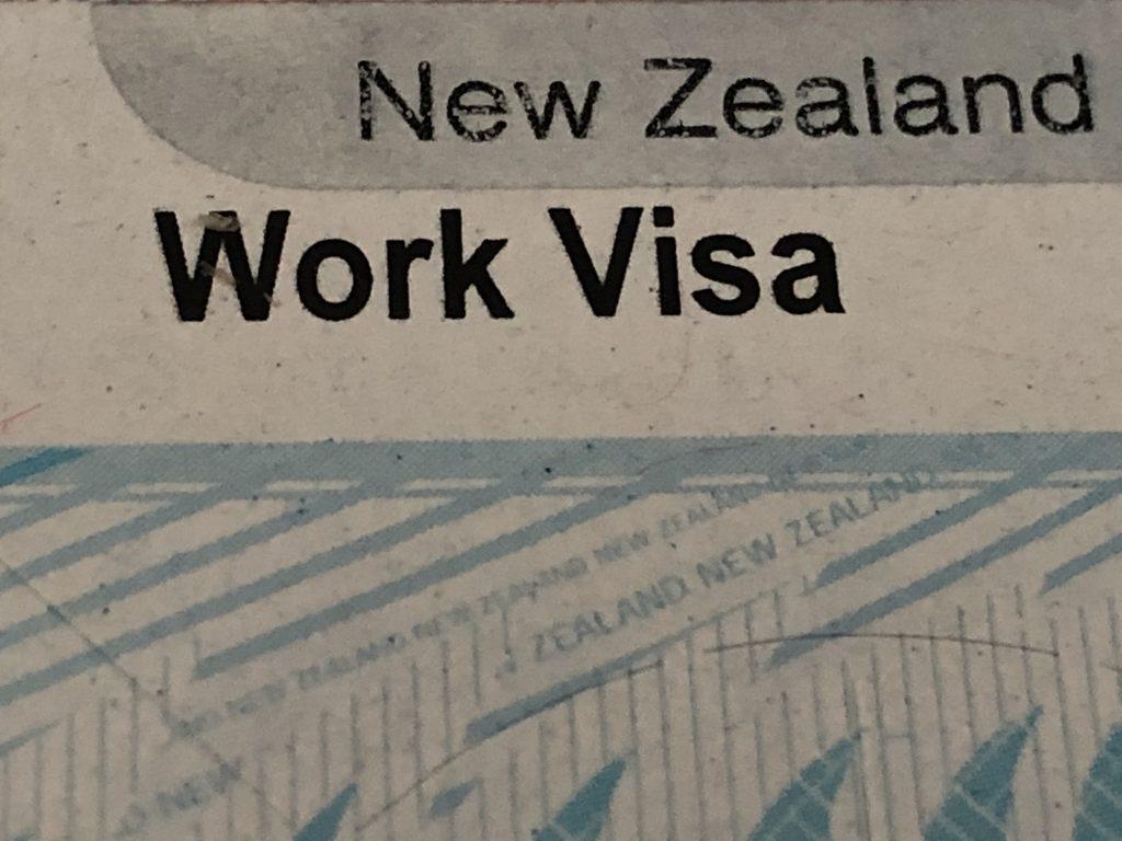 NZ WORK VISA